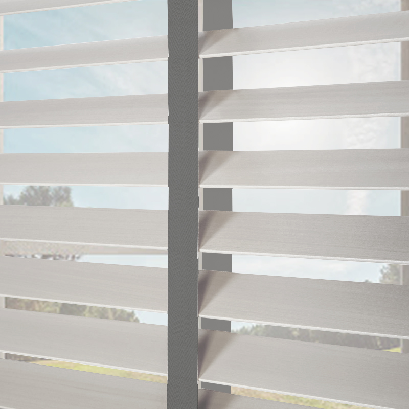 Nile Contrast 50 Taped Wooden Blind In White With Dark